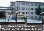 Ünye Adnan Menderes Mesleki ve Teknik Anadolu Lisesi
