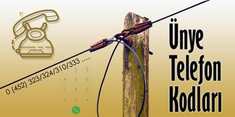 Ünye Telefon Kodu