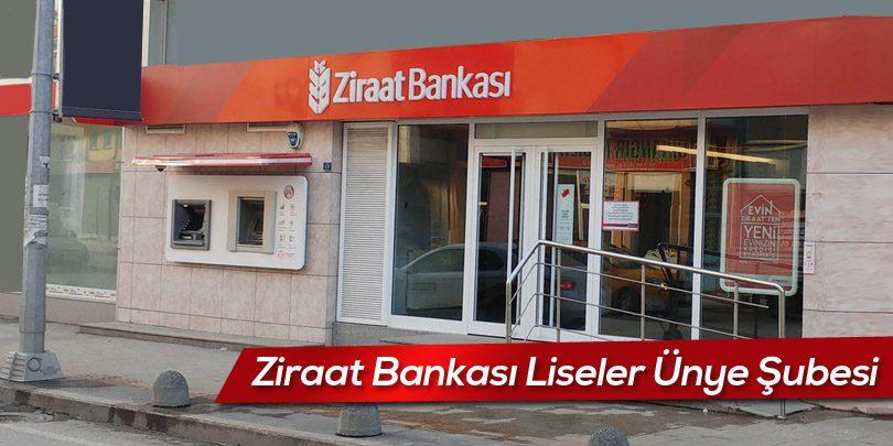 Ziraat Bankası Liseler Ordu Ünye Şubesi