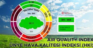 Ünye Hava Kalitesi İndeksi